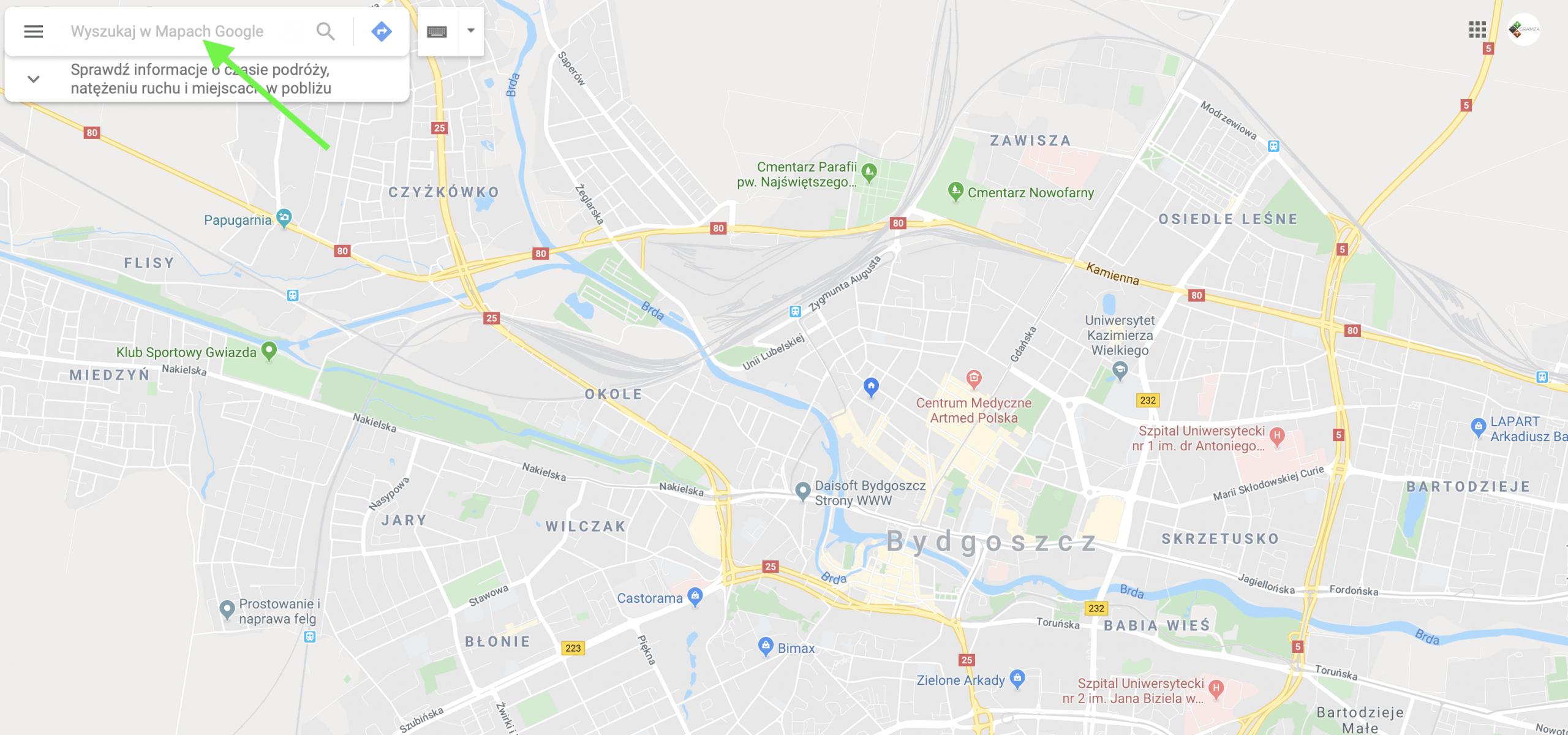 mapa na stronie www